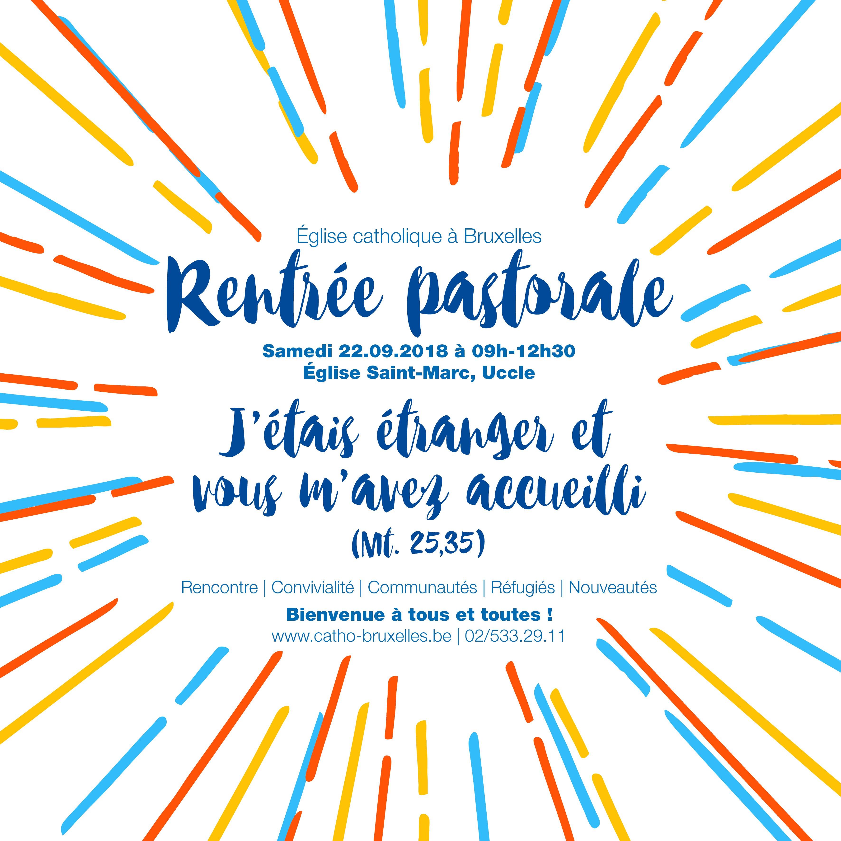 """Rentrée Pastorale pour l'église de Bruxelles : """"Riches de nos diversités"""" @ Eglise Saint-Marc"""