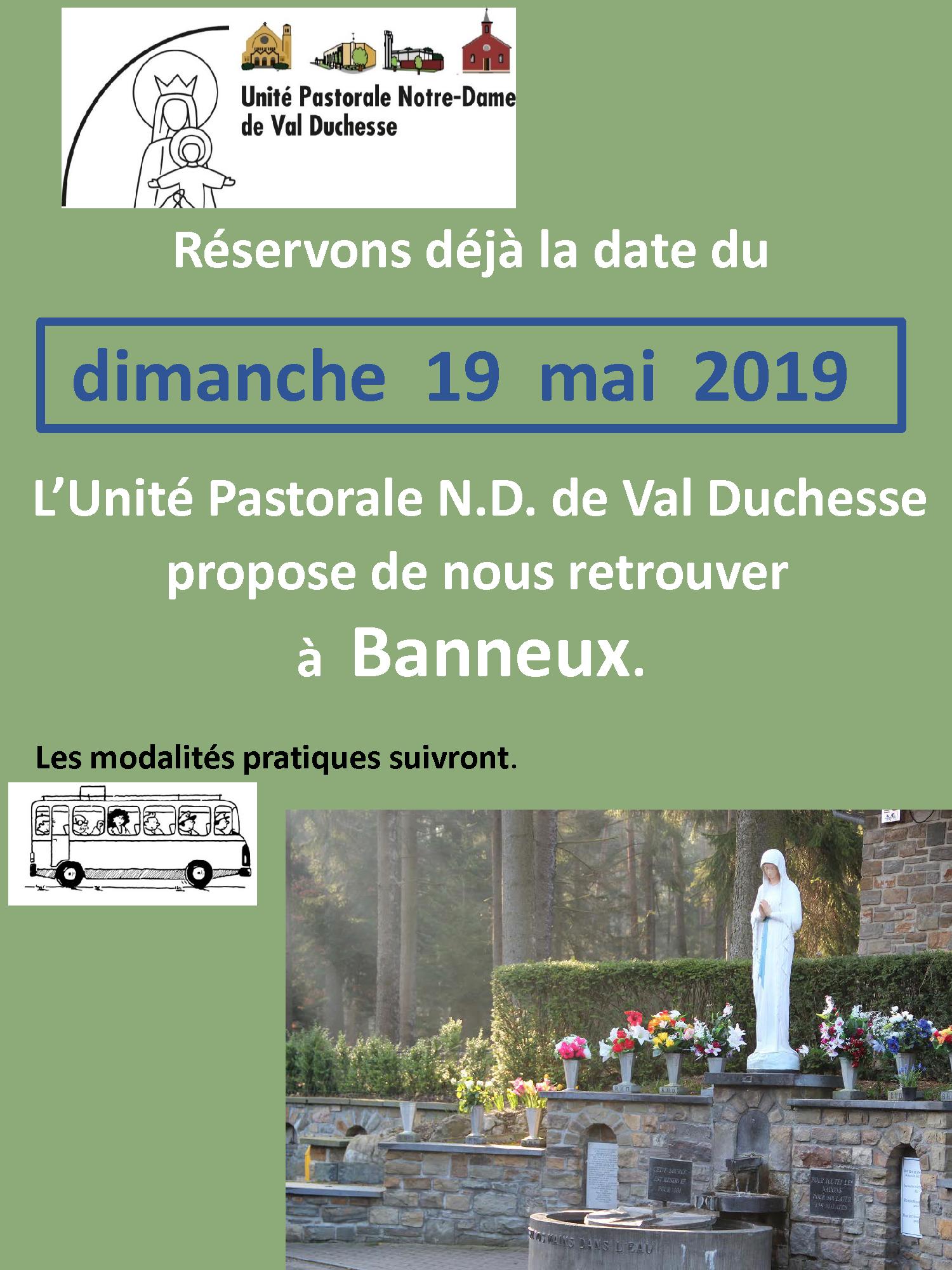 l'Unité Pastorale se retrouve à Banneux