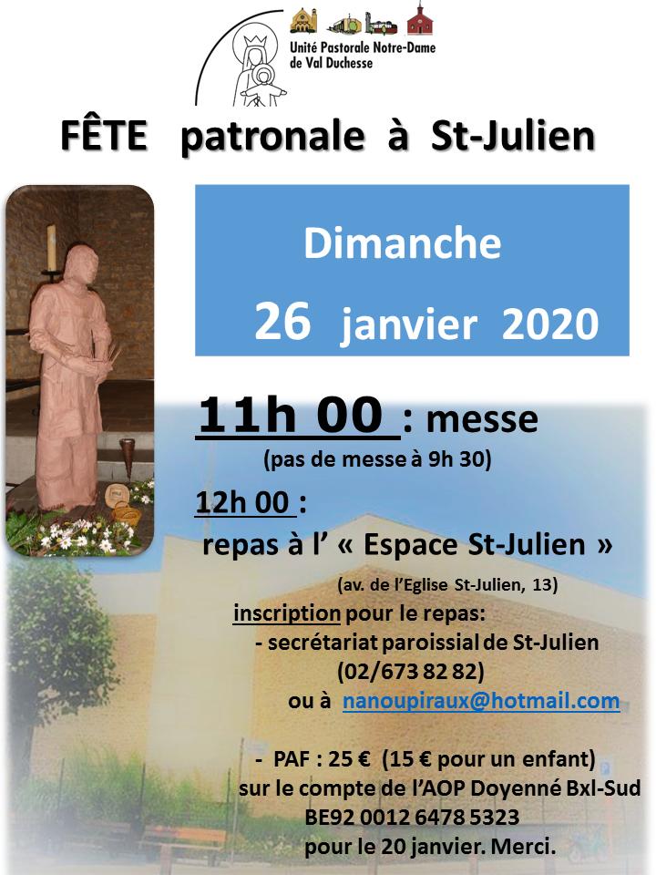 Fête patronale à St-Julien @ Saint-Julien